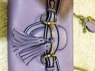 Authentic Gucci Emily Lavender Leather Chain Small Bag