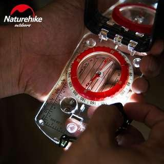 🔥Naturehike Climbing Compass With Mirror &LED🔥