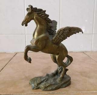 antique brass horse statue tembaga