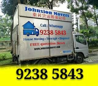 Movers Lorry transportation call 92385843 JohnsionMover.