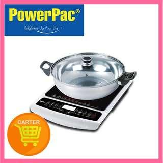 POWERPAC INDUCTION COOKER WITH STAINLESS STEEL POT OVERHEAT PROTECTION (PPIC848)