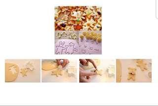 🚚 (4 cutter 10 face stamps) Bear rabbit Cookie Cutter set