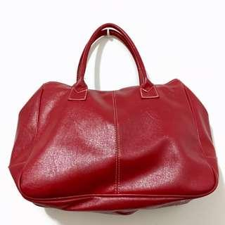🚚 正紅色雙層手提包