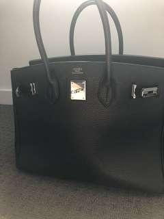 Hermès Birkin Togo leather tote bag