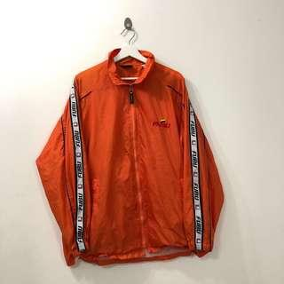 🚚 VINTAGE ORANGE FUBU 92 SPORTS WINDBREAKER