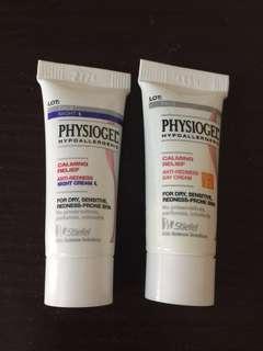 Physiogel 抗紅紓緩日/晚霜 試用裝 5ml $15 包郵