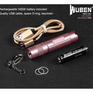 E348 WUBEN (260 Lumens) EDC flashlight