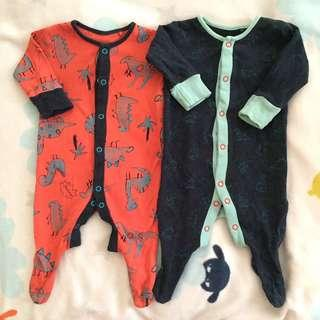 Next Baby Boy Sleepsuits combo