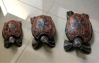 Pajangan Kayu Kura Kura Bali