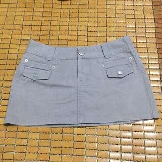 🚚 (近全新)灰色牛仔裙窄裙短裙A字裙s號