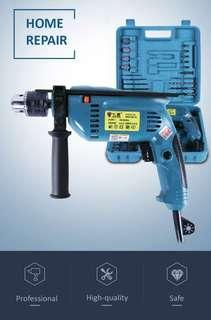 🚚 Home repair Rechargable Impact Drill with line Electric Screwdriver Drill with Bits