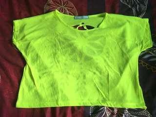 Neon green summer top