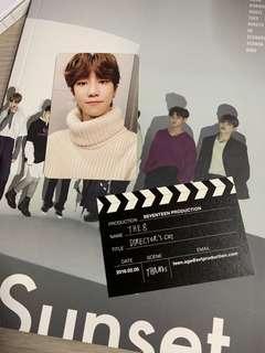 (WTT) SEVENTEEN DIRECTOR'S CUT SUNSET PHOTOCARD BUSINESS CARD