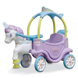 [Ready Stock] Little Tikes Princess Magical Unicorn Carriage with Light