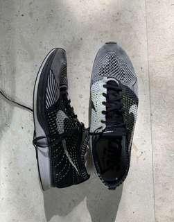 newest 15ea6 619b7 15 days ago. Nike Flyknit Racer Black White Volt