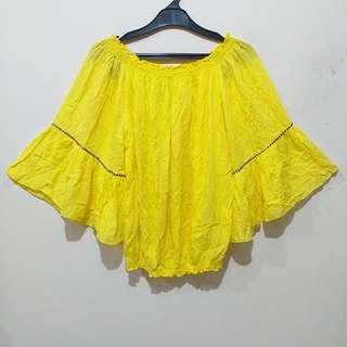 Andy Risza Yellow Blouse