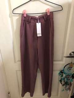 🚚 轉賣粉藕色寬褲