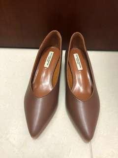 深啡 高踭鞋 36