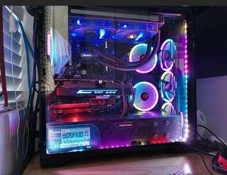 ** Full System **(CPU, Motherboard, Liquid CPU cooler, Casing with RGB lights, Sound Card, 120gb SSD, power supply, 8gb ram) Intel I5 6600k + Asus Z170A motherboard + Cosair H110i GTX water cooler + Sound Blaster ZX Sound card + Phanteks Entho ATX casing