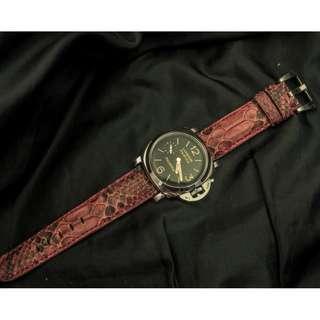 🚚 Panerai watch band / strap Python leather, Panerai watch band / strap 26mm, Panerai watch band / strap 24mm, Panerai watch band / strap custom 2