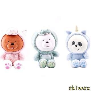 30CM AUTHENTIC WE BARE BEARS IN COSTUME; FREE DELIVERY! 😍