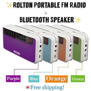 【INSTOCKS!】 ROLTON PORTABLE RADIO WITH BUILT-IN BLUETOOTH SPEAKER! 😍