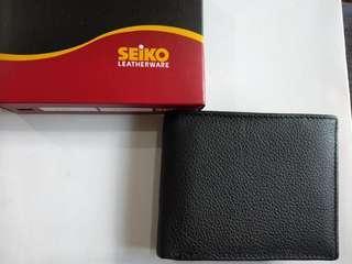 Seiko leather wallet