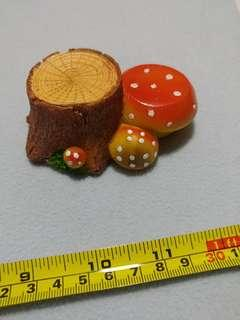 [Clearance/ Sales] Mini/ Small Wood with Mushrooms - Gardening/ Ornament/ DIY/ Handmade/ Craft Accessories