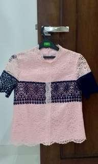 Tops Pink Navy(KOREA)