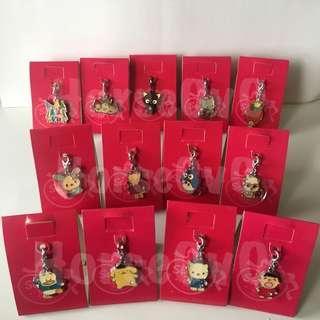 [包平郵] 7-11 x Sanrio 50th Anniversary Crystal Charms 水晶 吊飾