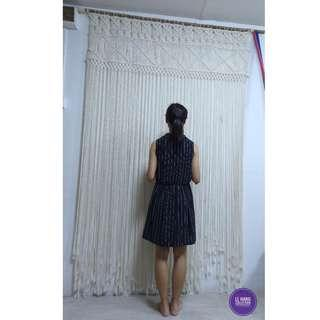 🌺 Rental-Purchase Macrame Backdrop/ Extra Large Macrame Wall Hanging/ Macrame Door curtain 🌺
