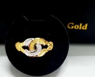 🚚 916 gold ring instock