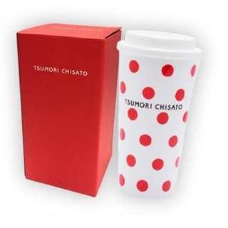 包順豐櫃 Tsumori Chisato RED 紅色波點 隨行杯 容量: 470ml 耐熱溫度: 60度 全新有盒