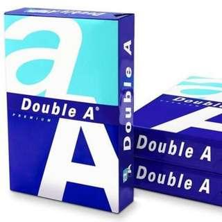 Double A A4紙 Printer Paper used a few pieces