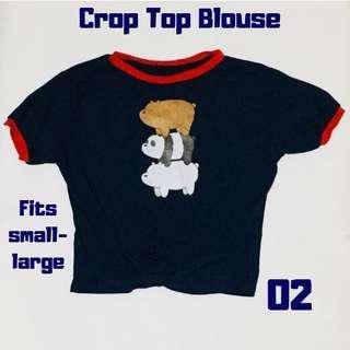 💫 Crop Top We Bare Bears Blouse