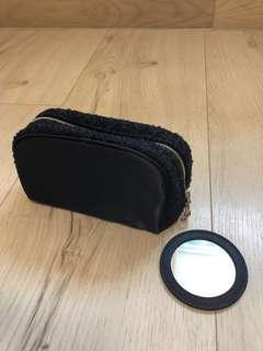 全新 Cle de peau 化妝袋連鏡