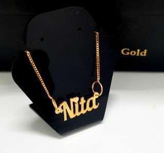 916 gold name customized