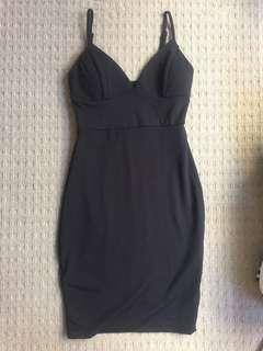 AVA & EVER BLACK BODY CON DRESS