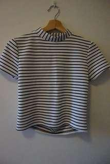 Stripe Tshirt with open back
