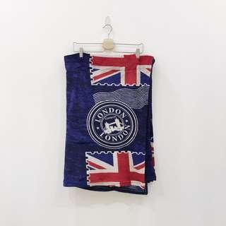 🚚 英國國旗薄版法蘭絨毛毯