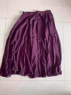 Ballet long purple skirt
