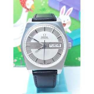 1960年代.瑞士原裝#OMEGA歐米茄#不鏽鋼自動上鍊機械男錶