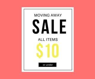 SALE ALL UNDER $10