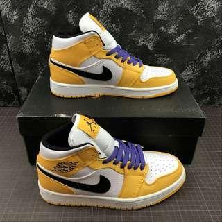 Nike Air Jordan 1 Mid Lakers