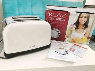 Pemanggang Roti Klaz Toaster Double Slice Cream Stainless Steel 850 W
