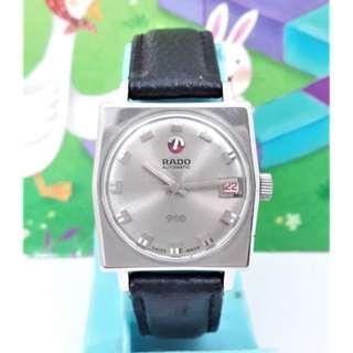 瑞士原裝雷達RADO日期窗顯示.原裝龍頭.不繡剛自動上鏈男錶