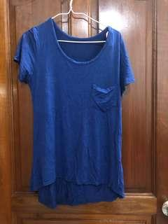 Blue Top with pocket