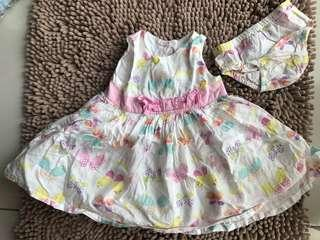 Baby Girl Floral Dress with Underwear