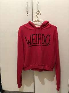 Forever21 Red cropped Hoodie