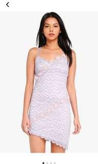 🚚 Topshop Crochet Lace Dress in Lilac Pink